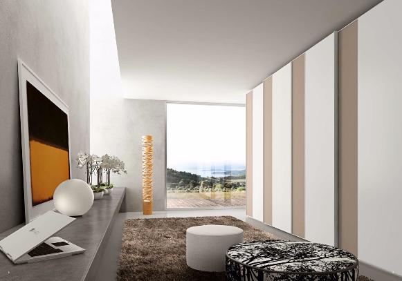 Des façades de rangement à motifs alternés pour un intérieur design et ultra contemporain